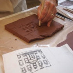 Sculpting the YWCA tile