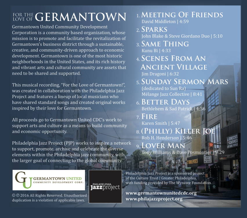 For the Love of Germantown album art