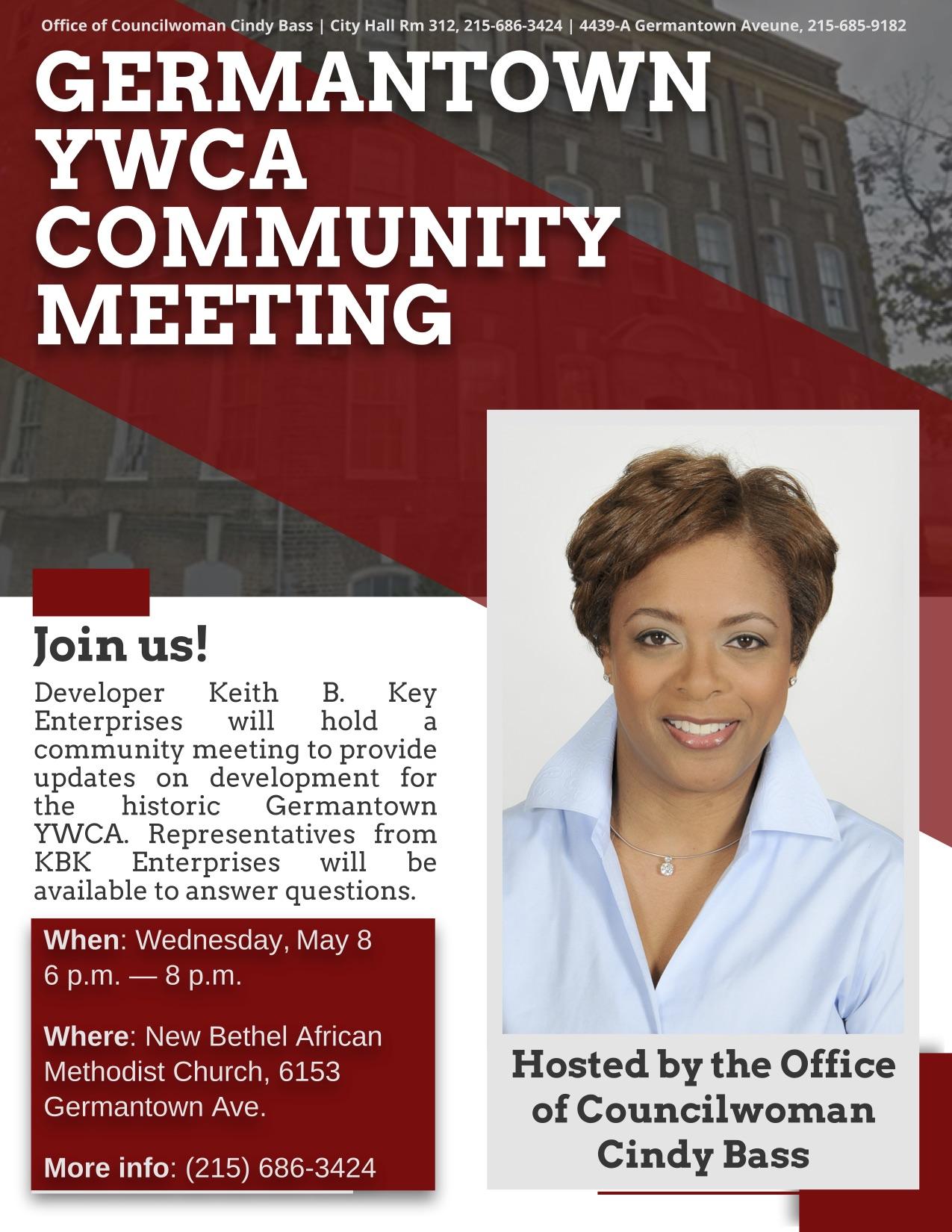 8c947168b969 Development News: Germantown YWCA Community Meeting May 8